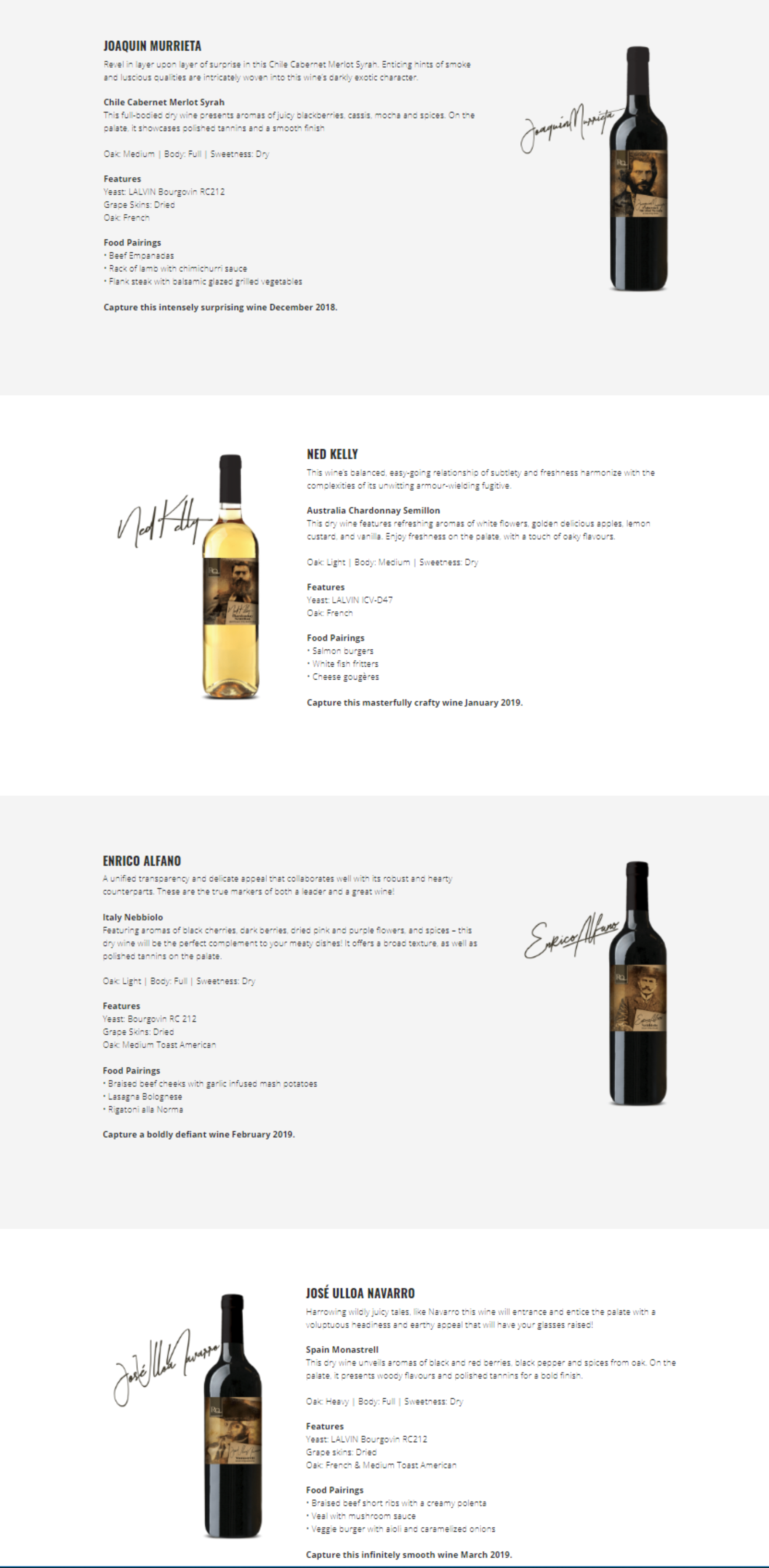 Hanover Wine Making Place - Restricted Quanity RQ Wines